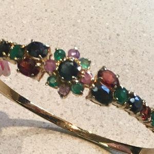 Multi Gemstone Bangle Bracelet